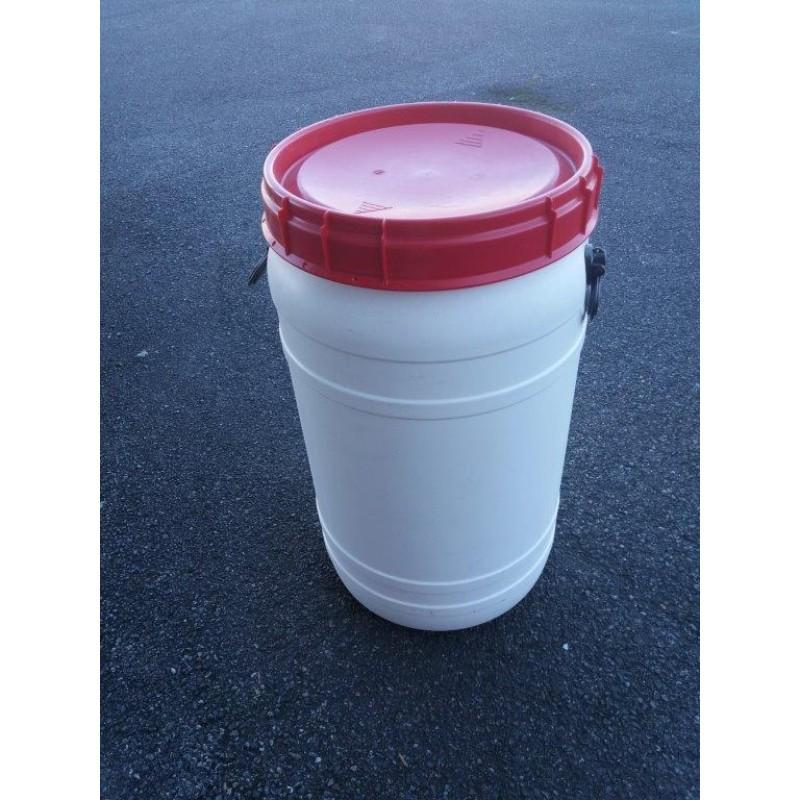 Bidon hermétique avec couvercle dévissable 110 litres