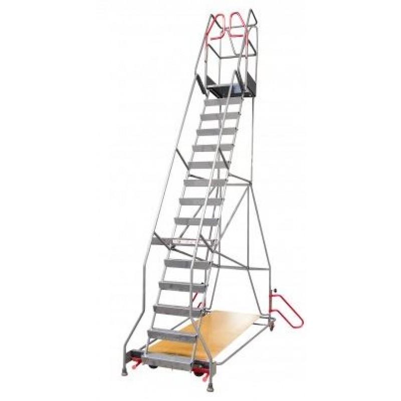 escabeau roulant immobilisation automatique 10 marches. Black Bedroom Furniture Sets. Home Design Ideas
