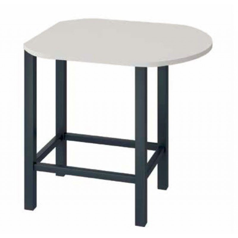 Table de r union haute forme ovale for Table haute ovale