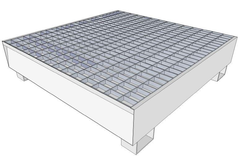 bac de r tention acier galvanis r tention 440 litres pour 4 f ts de 200 litres. Black Bedroom Furniture Sets. Home Design Ideas