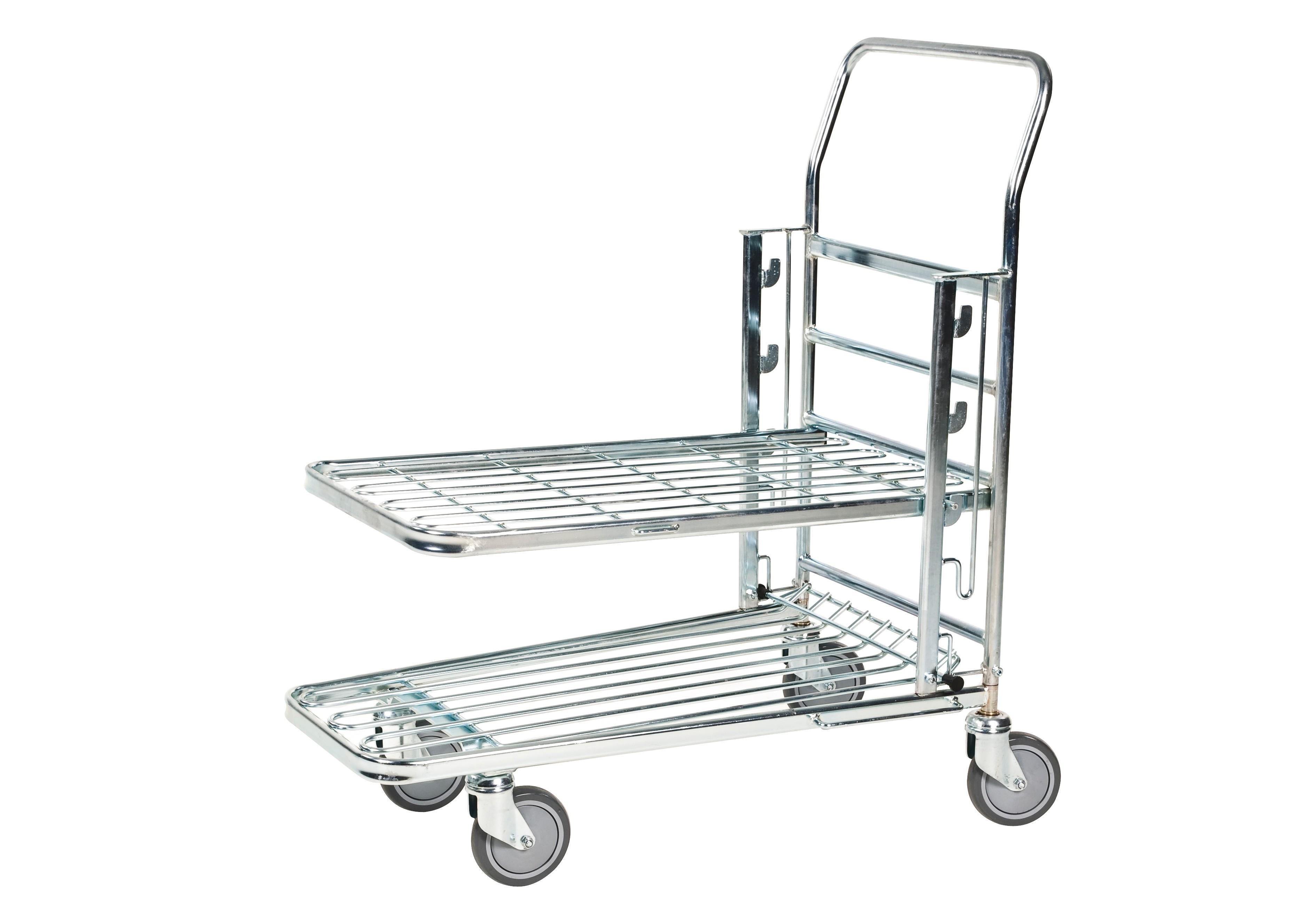 chariot en acier galvanis emboitable plateau r glable sur 3 niveaux de hauteur. Black Bedroom Furniture Sets. Home Design Ideas