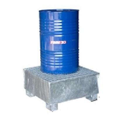 Bacs 1fût standard galvanisés à chaud manutentionnables à vide