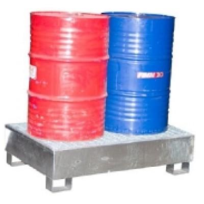 Bacs 2fûts standard galvanisés à chaud manutentionnables à vide