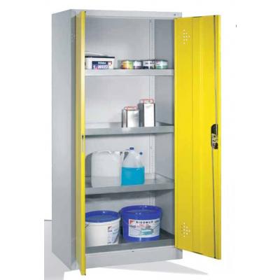 Armoire environnementale 4 étagères avec bacs collecteurs zingués H 1950 x l 930 mm