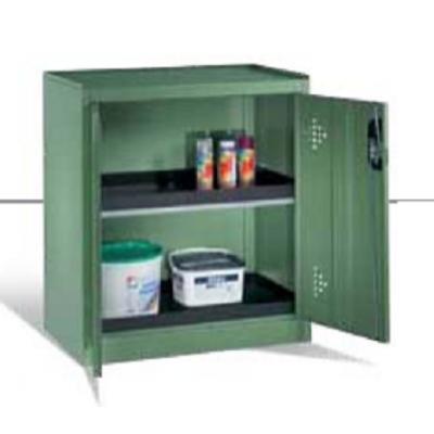 Armoire environnementale 2 étagères avec bacs collecteurs en polyéthylène H 1000 x l 930 mm