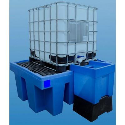 Bac de rétention Polyéthylène pour les produits agressifs rétention 1100 litres