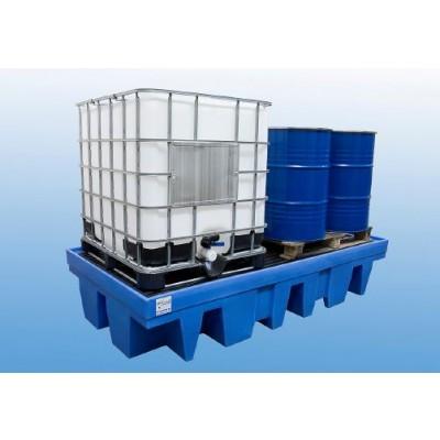 Bac de rétention PEHD,rétention 1140 litres pour 2cuves de 1000 litres ou 8 fûts de 200 litres