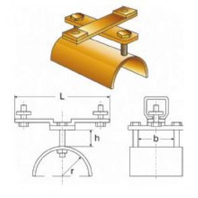Chariot fixe pour câble plat de guirlande d'alimentation pour palans hauteur 20 mm