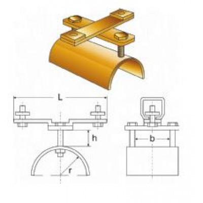 Chariot fixe pour câble plat de guirlande d'alimentation pour palans hauteur 40 mm