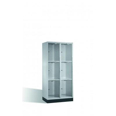Armoire 6 casiers avec portes en verre acrylique H 1750 x l 820 mm