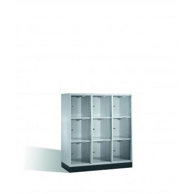 Armoire 9 casiers avec portes en verre acrylique H 1750 x l 1220 mm ID 676