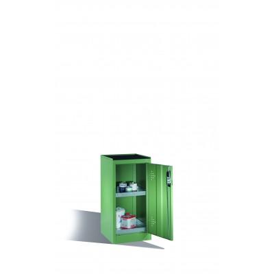 Armoire environnementale 2 étagères avec bacs collecteurs zingués H 1000 x l 500 mm