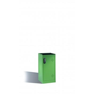 Armoire environnementale 2 étagères avec bacs collecteurs en polyéthylène H 1000 x l 500 mm