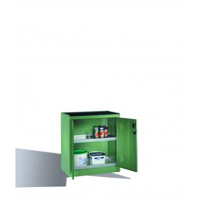 Armoire environnementale 2 étagères avec bacs collecteurs zingués H 1000 x l 930
