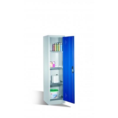 Armoire environnementale 4 étagères avec bacs collecteurs zingués H 1950 x l 500 mm
