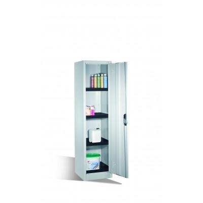 Armoire environnementale 4 étagères avec bacs collecteurs en polyéthylène H 1950 x l 500 mm