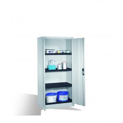 Armoire environnementale 4 étagères avec bacs collecteurs en polyéthylène H 1950 x l 930 mm