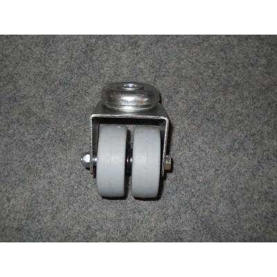 Roulette à oeil acier zingué à 2 roues Ø50x18 pivotante