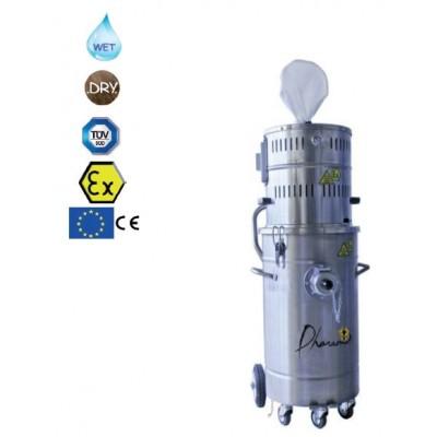 Aspirateur industriel eau et poussières certification atex 80 litres