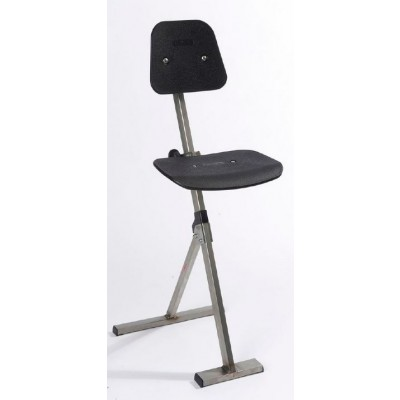 Siège assis-debout inox à piétement réglable