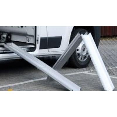 Rails de chargement pliables en aluminium  longueur 2500 mm (Paire) id133