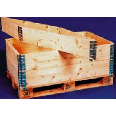 Réhausse de palette pliante en bois de pin lisse et avec chanfrein dimensions 800 x 1200 x hauteur 200 mm