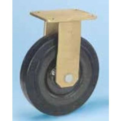 Roulette forte charge fixe diam 200 caoutchouc noir élastique