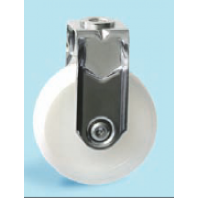 Roulette inox à oeil fixe diamètre 75 polyamide