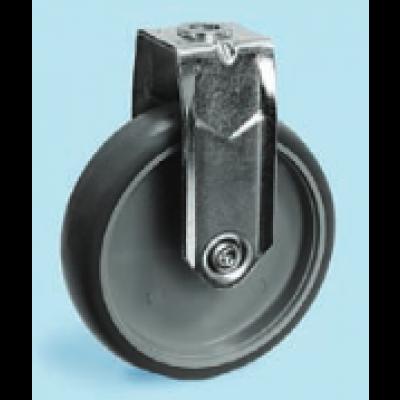 Roulette inox à oeil fixe diamètre 75 TPE