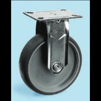 Roulette inox platine fixe diamètre 75 TPE élastomère thermoplastique