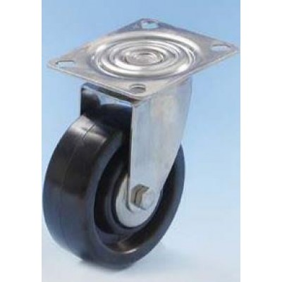 Roulette inox platine pivotante diamètre 80 haute température 300°