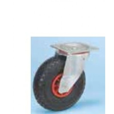 Roulette platine zinguée pivotante diam 260 gonflable