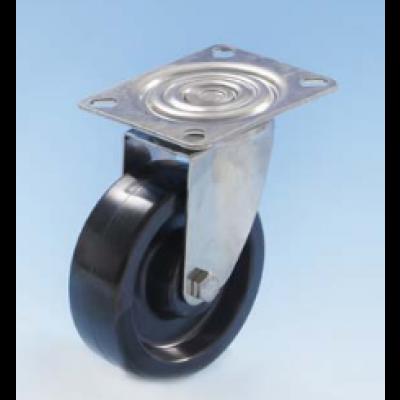 Roulette inox platine pivotante diamètre 100 haute température 300°