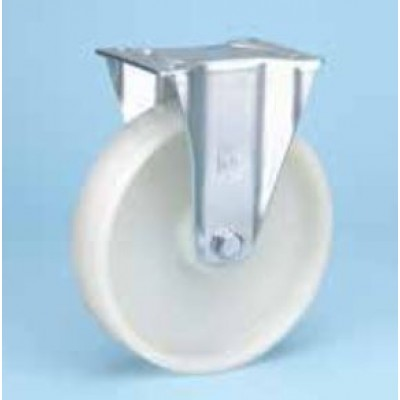 Roulette standard platine zinguée fixe diam 100 polyamide