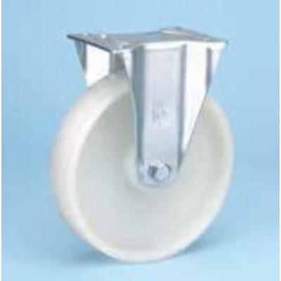 Roulette standard platine zinguée fixe diam 125 polyamide