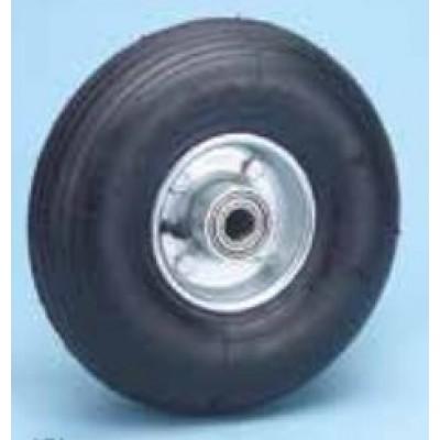 Roulette platine zinguée standard pivotante roue diam 200 gonflable