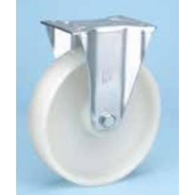 Roulette standard platine zinguée fixe diam 125 polypropylène