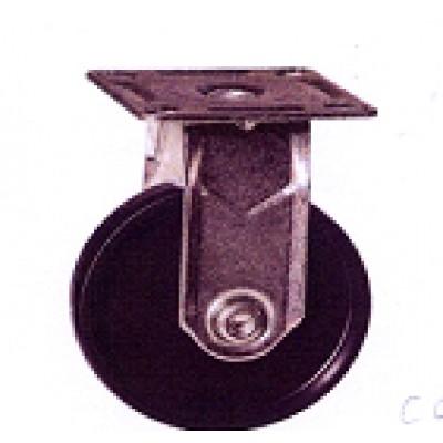 Roulette platine acier zingué polypropylène diamètre 50 fixe