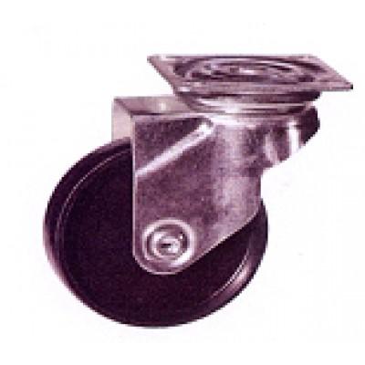 Roulette platine acier zingué polypropylène diamètre 50 pivotante