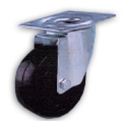Roulette haute température 300° diamètre 80 platine acier galvanisé pivotante