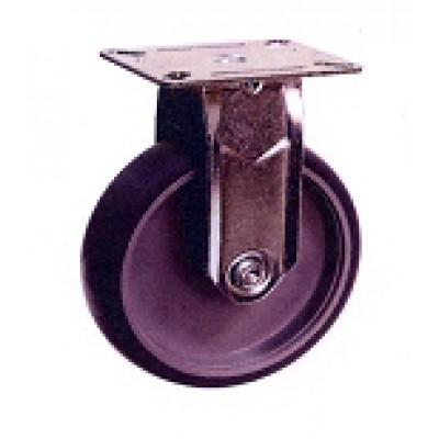 Roulette inox platine fixe diamètre 100 TPE élastomère thermoplastique