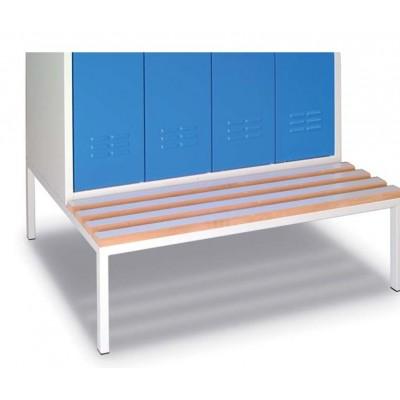 Socle-banc pour vestiaire 3 cases