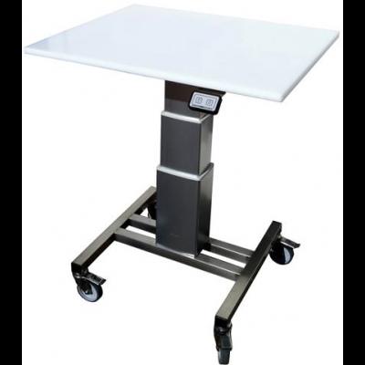 Table mobile de travail inox à hauteur réglable