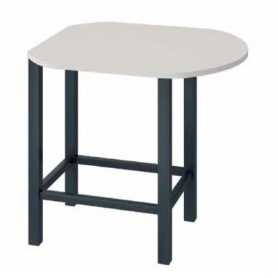 Table de Réunion Haute forme ovale