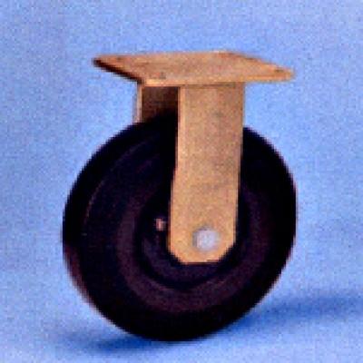 Roulette forte charge fixe diam 160 caoutchouc noir élastique